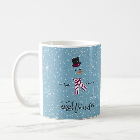 Magic and Wonder Christmas Snowman Blue ID440 Coffee Mug