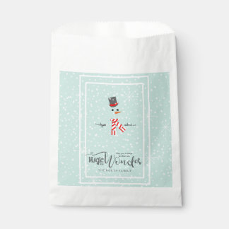 Magic and Wonder Christmas Snowman Mint ID440 Favour Bag