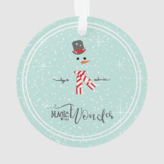 Magic and Wonder Christmas Snowman Mint ID440 Ornament