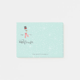 Magic and Wonder Christmas Snowman Mint ID440 Post-it Notes