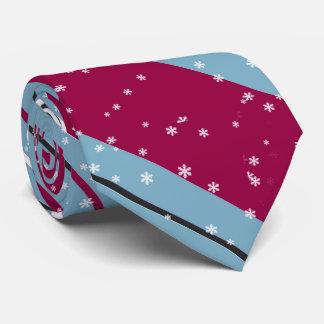 Magic and Wonder Christmas Stripes Blue ID440 Tie
