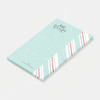 Magic and Wonder Christmas Stripes Mint ID440 Post-it Notes