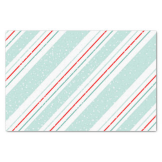 Magic and Wonder Christmas Stripes Mint ID440 Tissue Paper