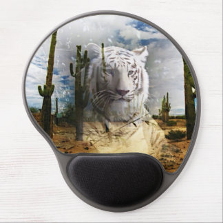 Magic Animals White Tiger Gel Mouse Pads
