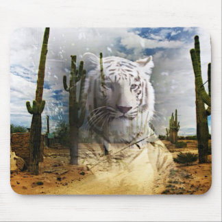 Magic Animals WHITE TIGER Mouse Pads