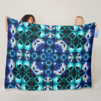 Magic Beasts Mandala Quilt Fleece Blanket