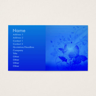 Magic Blue Profile Card
