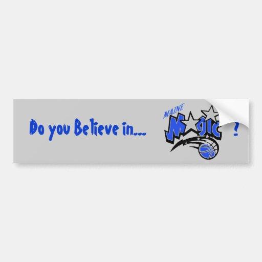 Magic Bumper Sticker