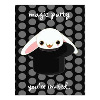 magic bunny 11 cm x 14 cm invitation card