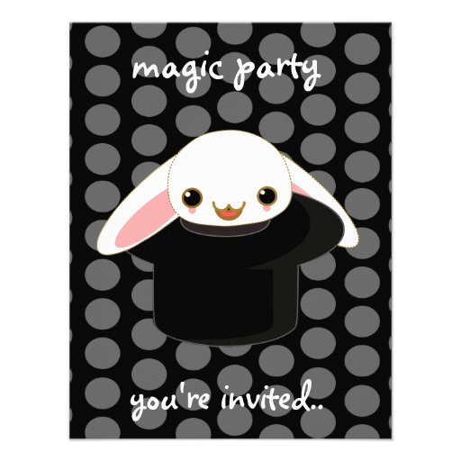 magic bunny personalized invites