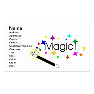 Magicians wand business cards 43 magicians wand busines for Business card tricks