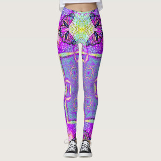 Magic Butterfly Dance Satin Leggings