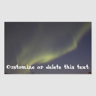 Magic Carpet Ride; Customizable Rectangular Sticker