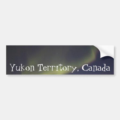 Magic Carpet Ride; Yukon Territory Souvenir Bumper Sticker
