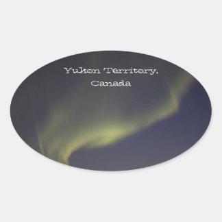 Magic Carpet Ride; Yukon Territory Souvenir Oval Sticker