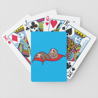 Magic Carpet Sloths Bicycle Playing Cards