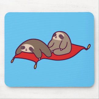 Magic Carpet Sloths Mouse Pad