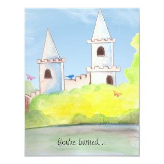 Magic Castle Watercolor Party Invitation
