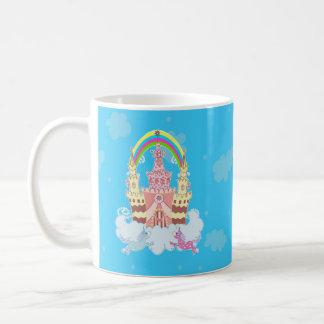 Magic Castle with cute unicorns illustration Coffee Mug