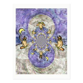 Magic Cat Kaleidoscope Artistic Cards With Quotes Postcard