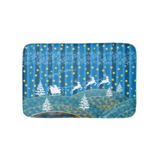 Magic Christmas background. Bath Mat
