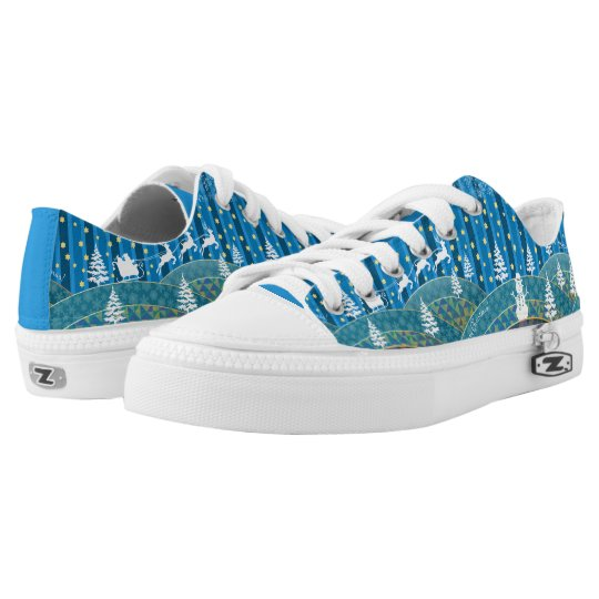Magic Christmas background Low Tops
