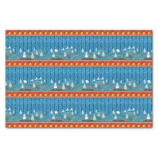 Magic Christmas background. Tissue Paper