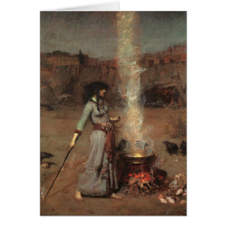Magic Circle, J.W. Waterhouse, 1886 Card