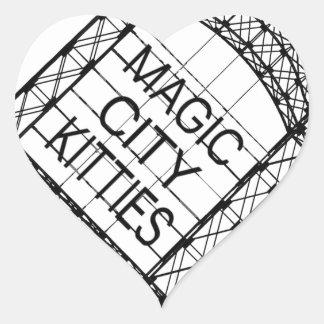 Magic City Kitties Heart Sticker