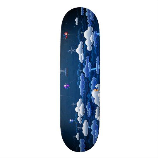 Magic Clouds Custom Pro Park Board Custom Skate Board