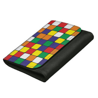 magic colour pattern full leather wallets