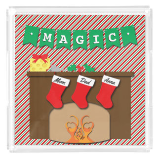 Magic • Creature Was Stirring • 3 Stockings Acrylic Tray