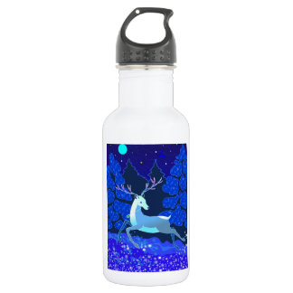Magic Cute Christmas Deer with bell 532 Ml Water Bottle