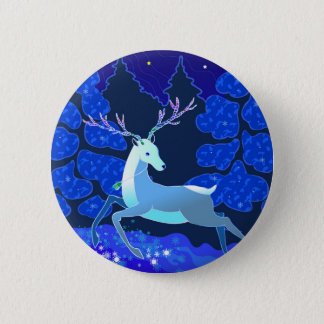 Magic Cute Christmas Deer with bell 6 Cm Round Badge