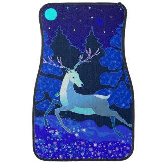 Magic Cute Christmas Deer with bell Car Mat