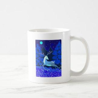 Magic Cute Christmas Deer with bell Coffee Mug