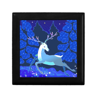 Magic Cute Christmas Deer with bell Gift Box