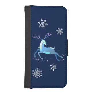 Magic Cute Christmas Deer with bell iPhone SE/5/5s Wallet Case