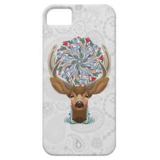 Magic Cute Forest Deer with flourish spring symbol Case For The iPhone 5