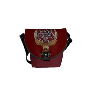 Magic Cute Forest Deer with flourish spring symbol Commuter Bag