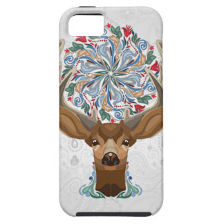 Magic Cute Forest Deer with flourish spring symbol Tough iPhone 5 Case