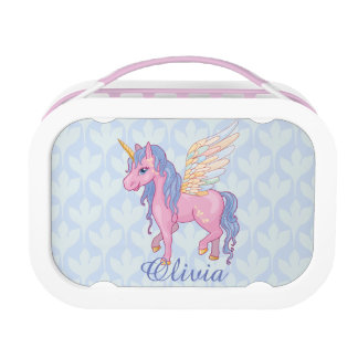 Magic Cute Pink Unicorn with wings Lunch Box