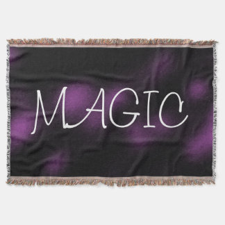 MAGIC Dark Purple Goth Style Throw Blanket