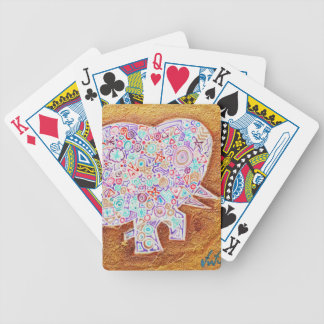 Magic elephant on stone wall - Magic Playing cards