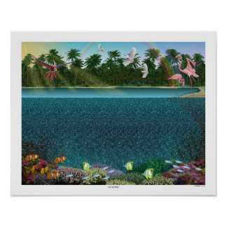 "Magic Eye® 3D ""Coral Reef"" Poster 20"" x 16"""