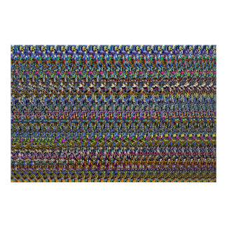 "Magic Eye® 3D ""Invisible"" Poster 36"" x 24"""