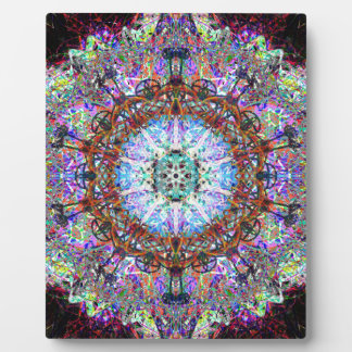 Magic Fairy Abstract Pattern In Purple Hues Photo Plaque