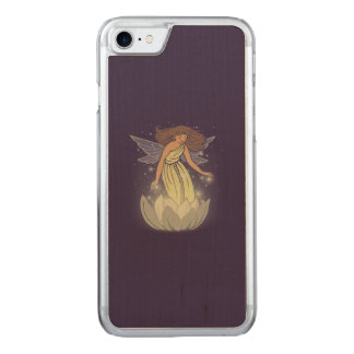 Magic Fairy White Flower Glow Fantasy Art Carved iPhone 7 Case