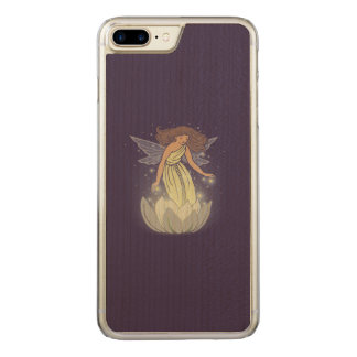 Magic Fairy White Flower Glow Fantasy Art Carved iPhone 7 Plus Case