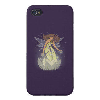 Magic Fairy White Flower Glow Fantasy Art Case For The iPhone 4